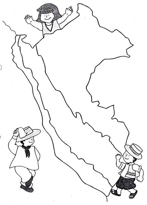 Bailes peruanos de la selva para colorear - Imagui | Eso | Peru ...