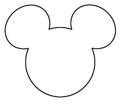 Lucrative image inside mickey mouse head template printable
