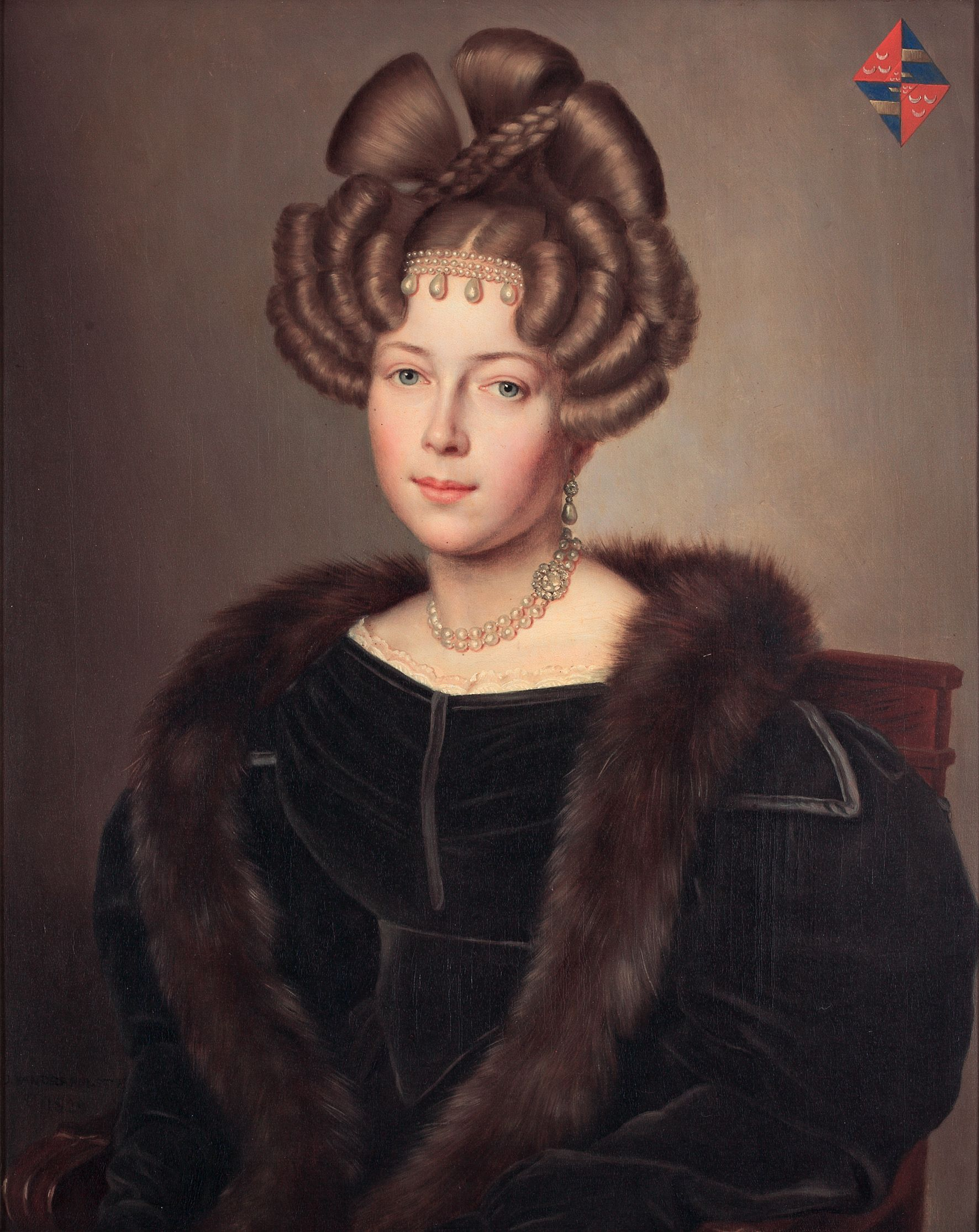 Jan Baptist Van Der Hulst 1790 1862 Portrait Of Maria Cornelia Gravin Van Wassenaer 1829 1772 2229 Historical Hairstyles Female Portrait Portrait