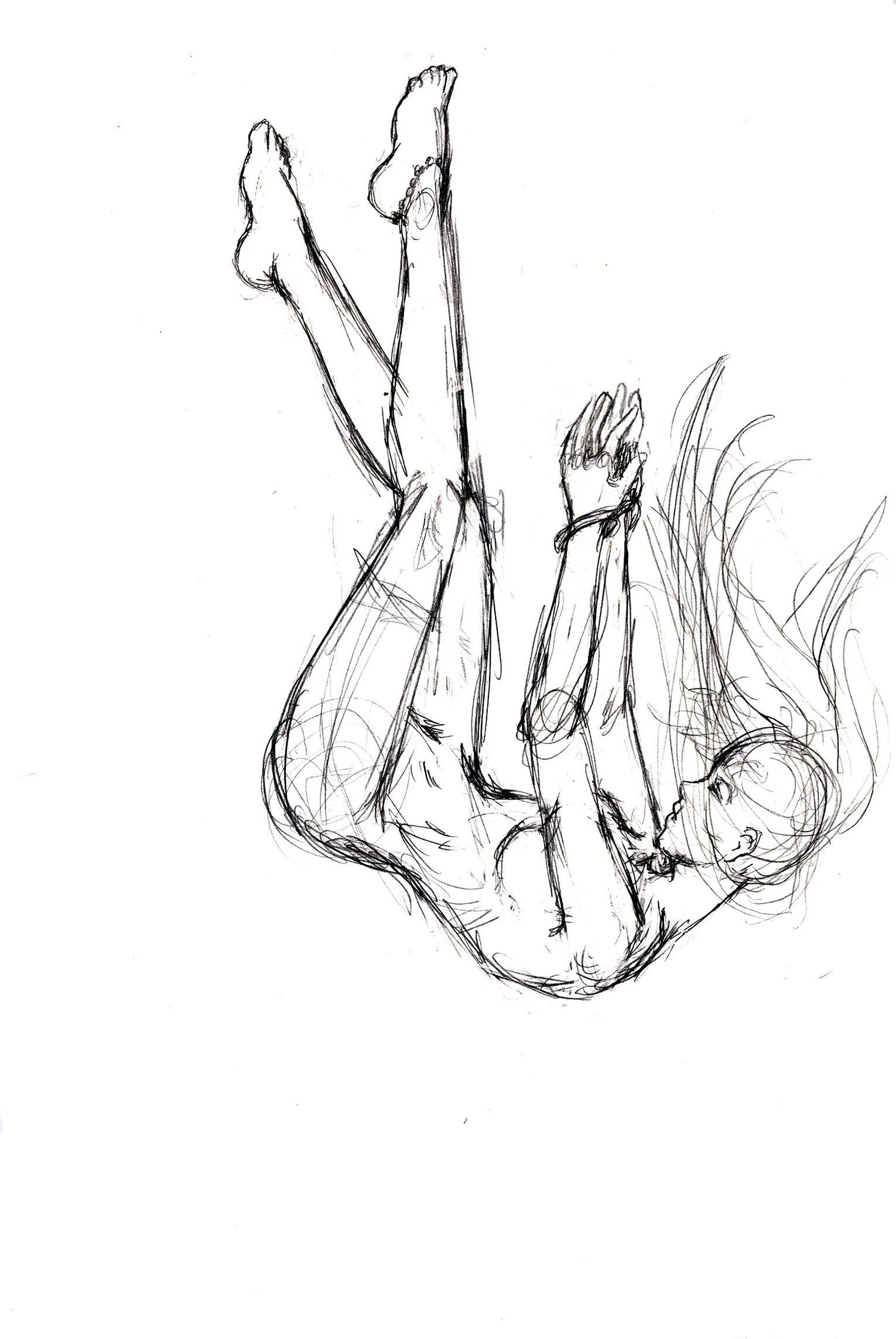 Falling sketch by elishaaistrup on deviantart drawing reference poses drawing poses drawing tips