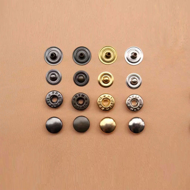 Gun Black Magnetic Snaps Purse Bag Press Buckles Buttons 17mm 10 Sets Silver