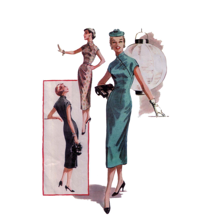 50s Cheongsam Mandarin Gown vintage pattern von BootyVintage ...