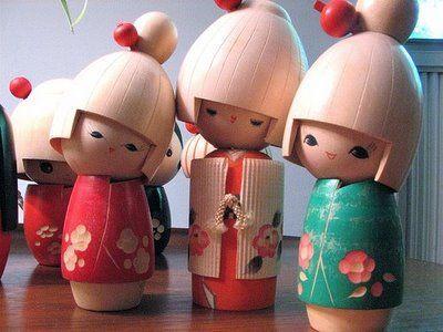 kokeshi dolls, #japan
