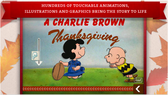 A Charlie Brown Thanksgiving - an interactive book based of