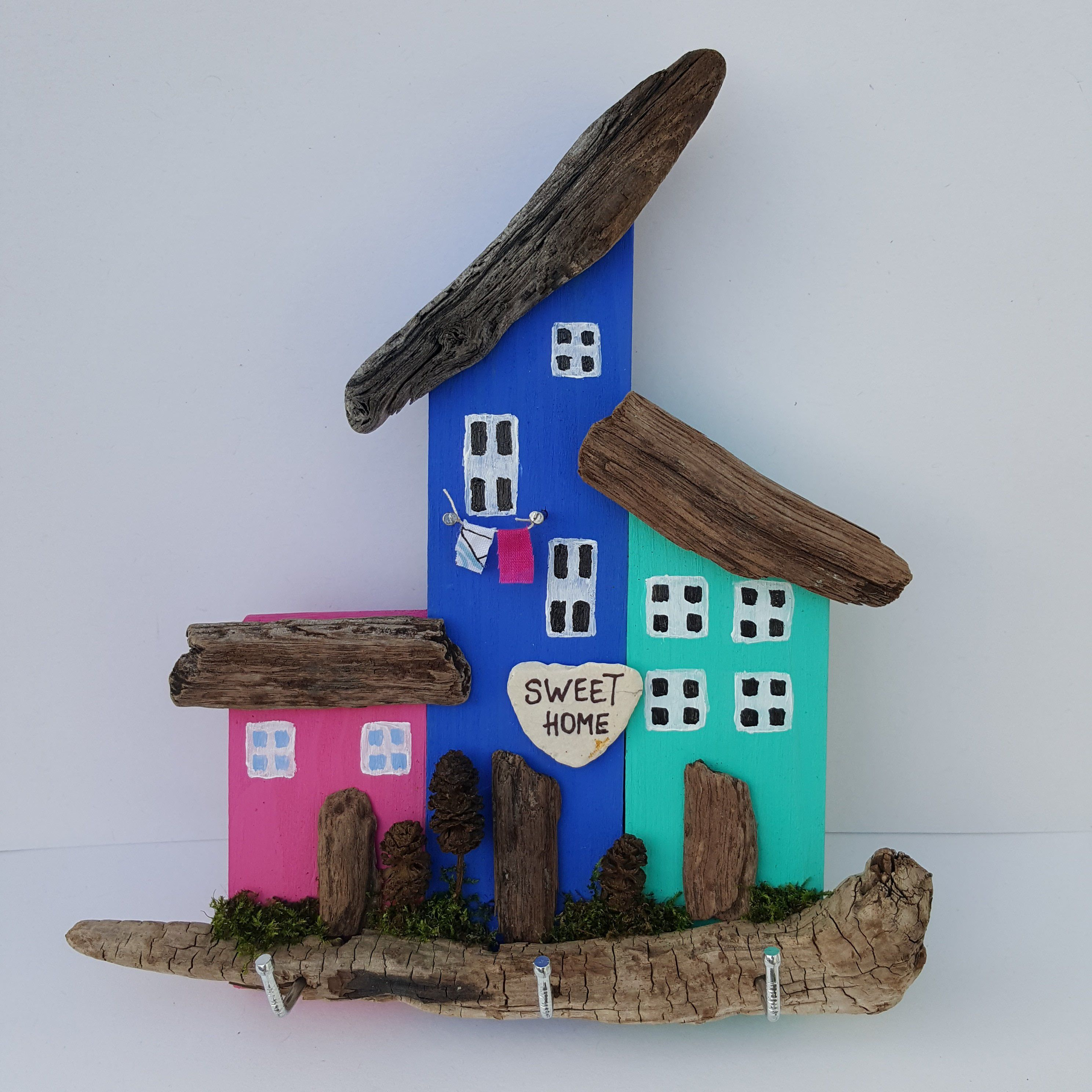 Handmade Driftwood Cottages Key Holder Home decor ...