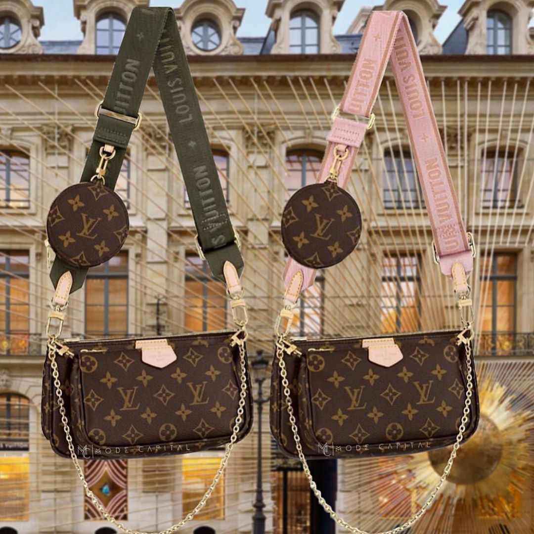 NEW COLLECTION 2019 LOUIS VUITTON - MULTI POCHETTE Piccola retrò e allo stesso tempo sporty e contemporanea. La... #louisvuittonhandbags