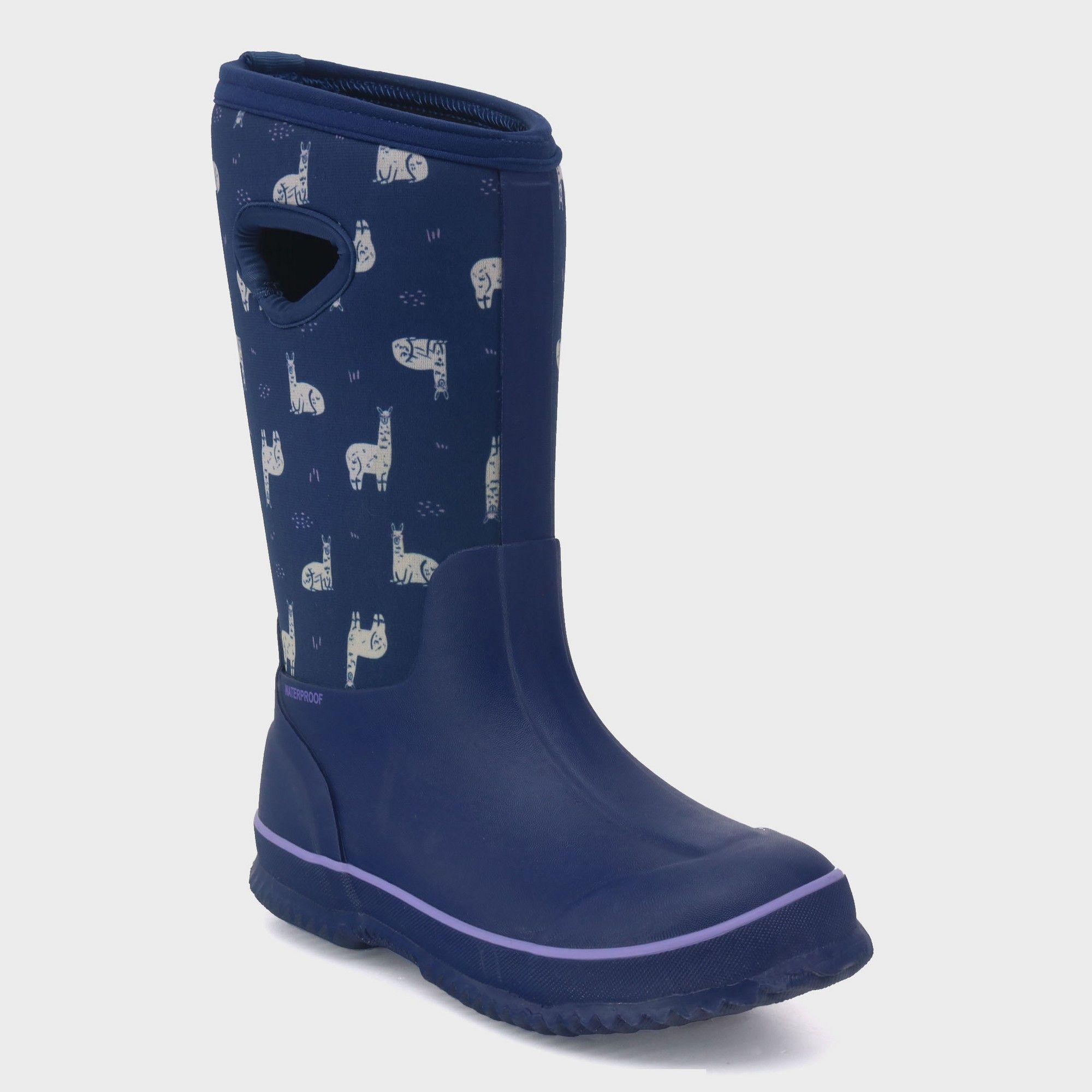 532e96473 Girls' Polly Neoprene Winter Boots - Cat & Jack Navy (Blue) 13 ...