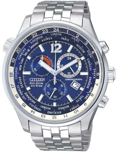 07e5887db46 Citizen Eco-Drive Sapphire Chrono World Time Gents Watch At0365-56L  At0360-50L