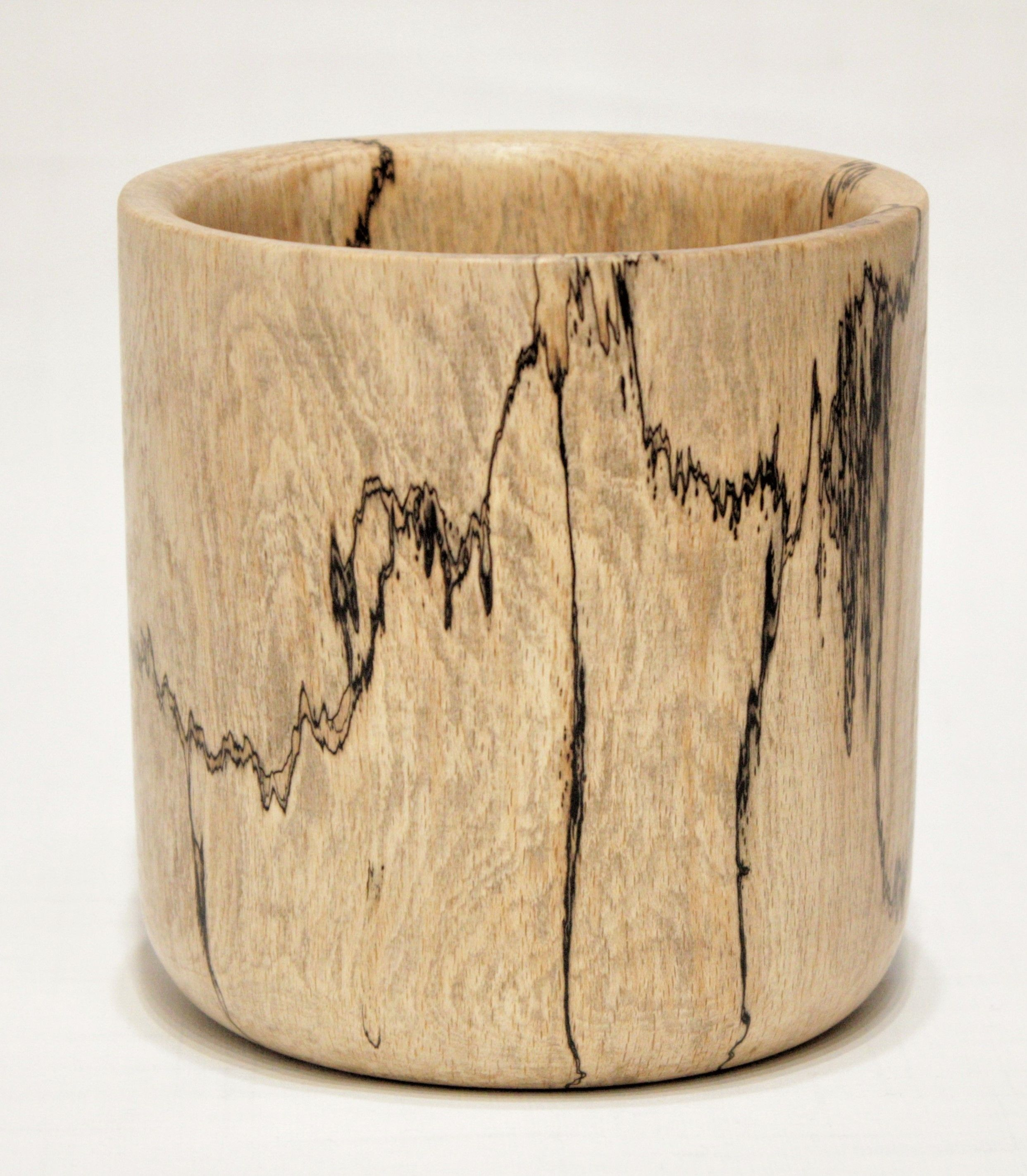 Spalted Beech Wood ~ Spalted beech woodturned pot buy artisan items made from