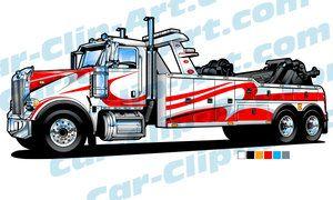 Peterbilt Heavy Duty Tow Truck Vector Art Tow Truck Truck Art