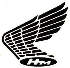 H Metal Enamel Biker Pin Badge HOG Chopper Bobber Bike Badge