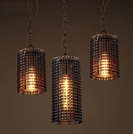 Retro Loft Style Creative Metal Chain Edison Pendant Light Fixtures ...