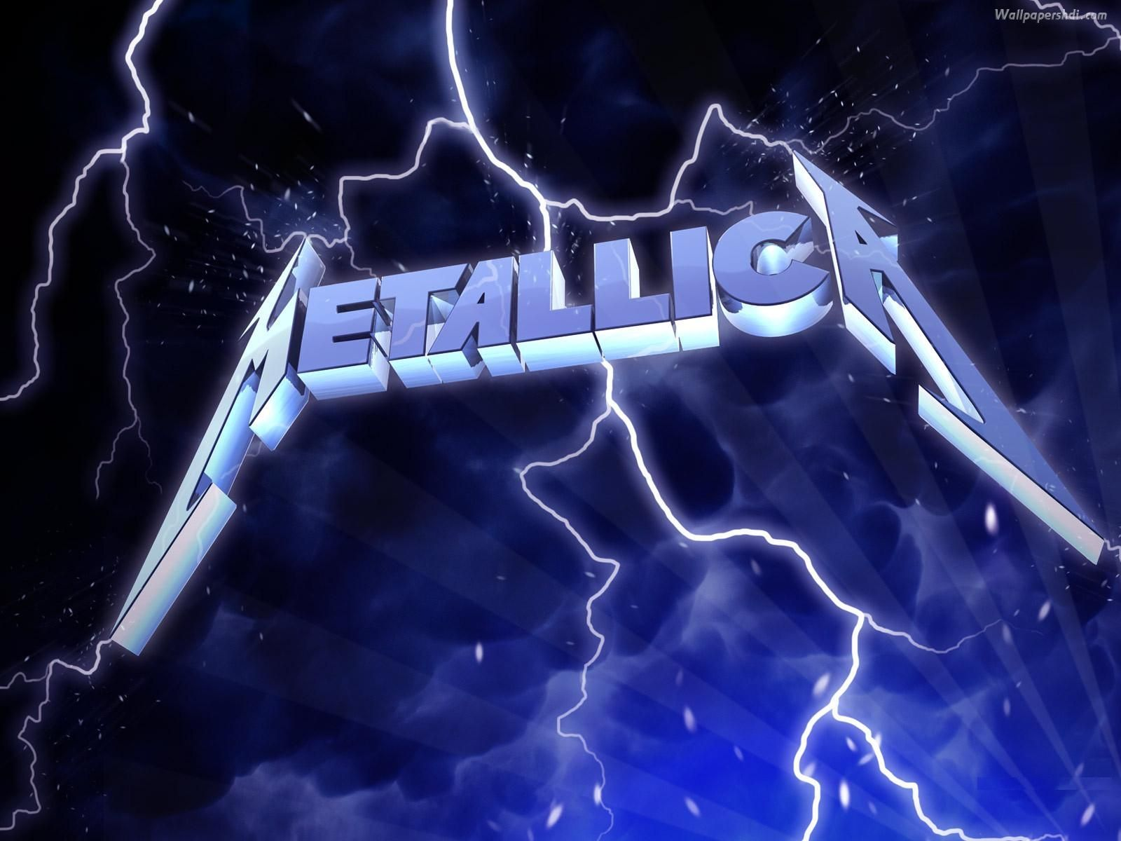 lighting metallica logo background puter picture hd wallpapers