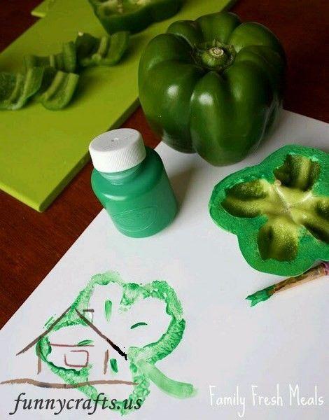 Printmaking Ideas For Kids Funnycrafts Summer Pinterest