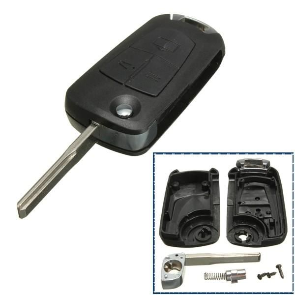 3 Buttons Remote Flip Key Fob For Vauxhall Opel Astra Vectra