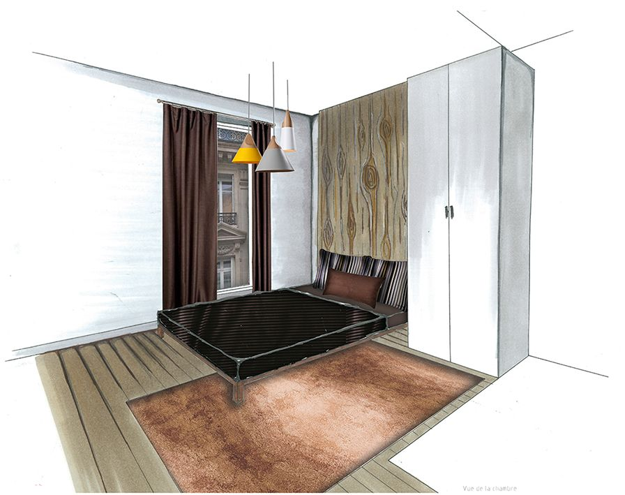 Perspective d co chambre sketch pinterest Perspectives deco