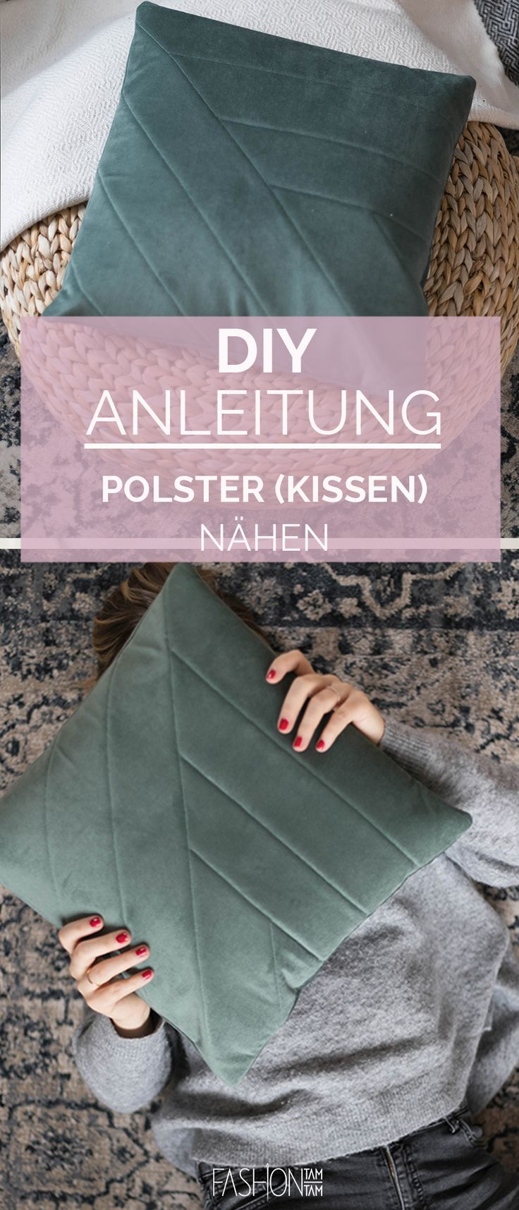 Photo of DIY: Polster aus Möbelvelours nähen – fashiontamtam.com