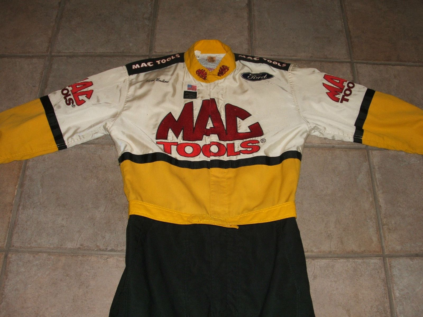 MAC TOOLS NASCAR Simpson Racing NOMEX Fire Suit Ford Shelby Cobra BOSS 302 NHRA!