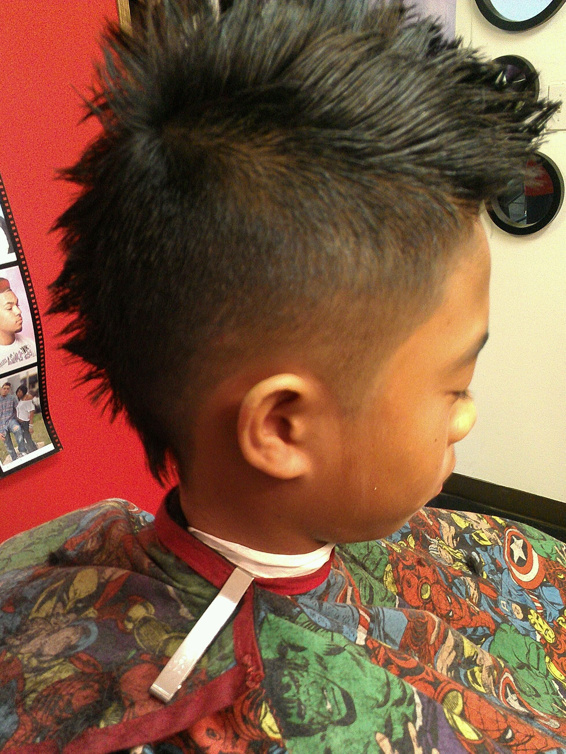 Mohawk fade superstarbarber barbershop little boy haircut