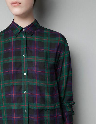 3f6500cee7 CAMISA CUADROS - Camisas - Mujer - ZARA