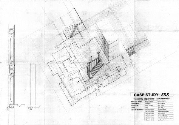 Maison de Verre - plan one and two Pierre Chareau Pinterest