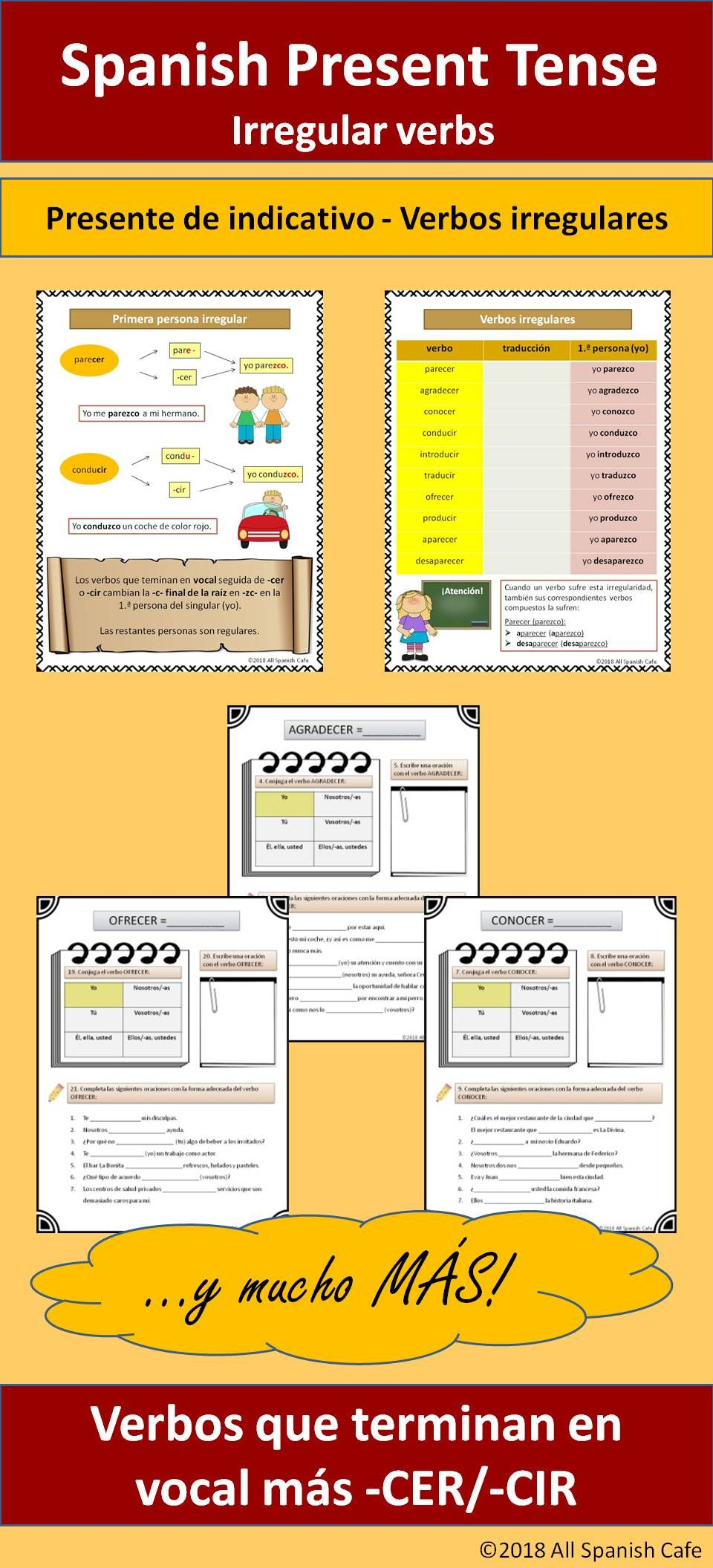Spanish Present Tense Irregular Verbs Presente De Indicativo Verbos Irregulares Verbo Spanish Teacher Resources Irregular Verbs Spanish Language Learning [ 2112 x 960 Pixel ]