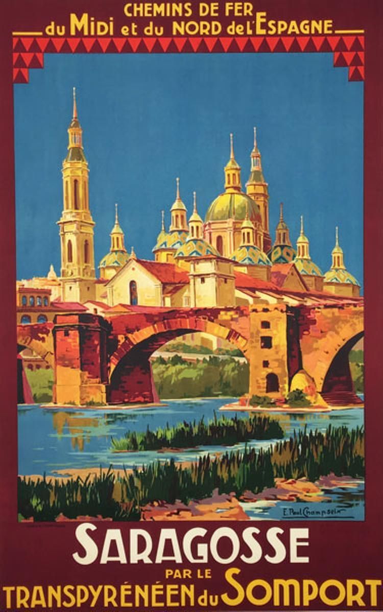 Vintage French Pyrenees Day Trips Tourism Poster  A3 Print