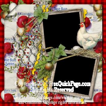 Chicken farm or garden layout for digital scrapbooking ...