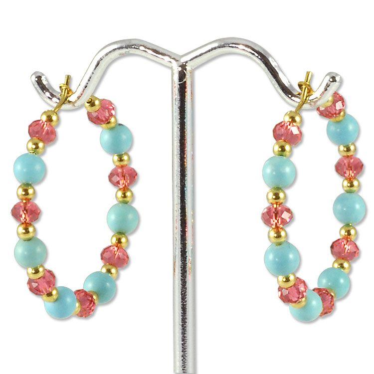 Beach Day Earring Project | Wire Hoops Jewelry Project | Jewelry ...