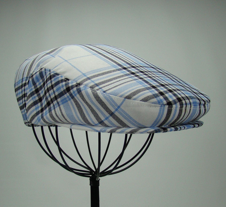 7f62a6bfe4701 Plaid Men s Hat - Golf Cap in Blue