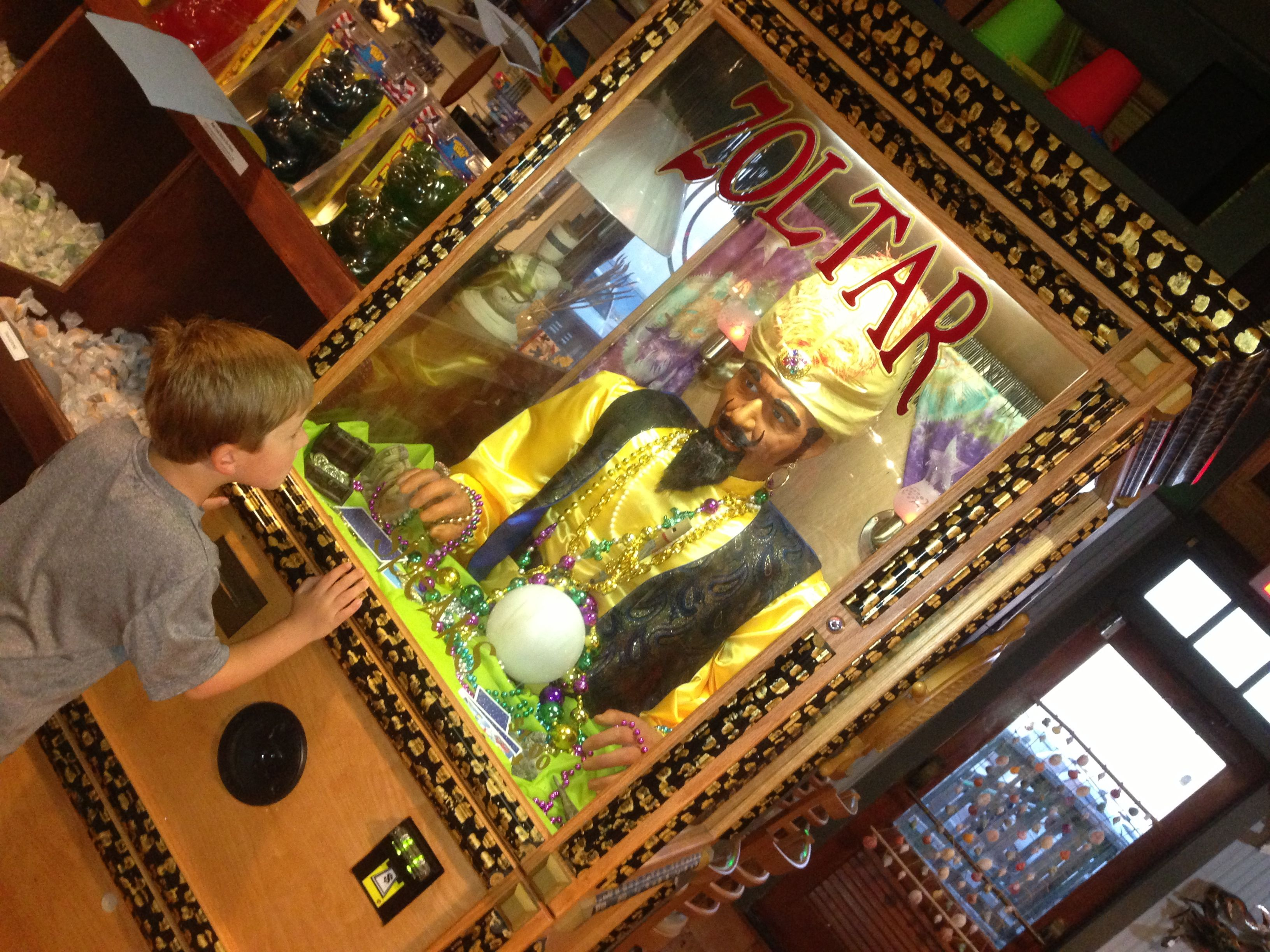 For whatever reason, my kid loves Zoltar at the Candy Maker.