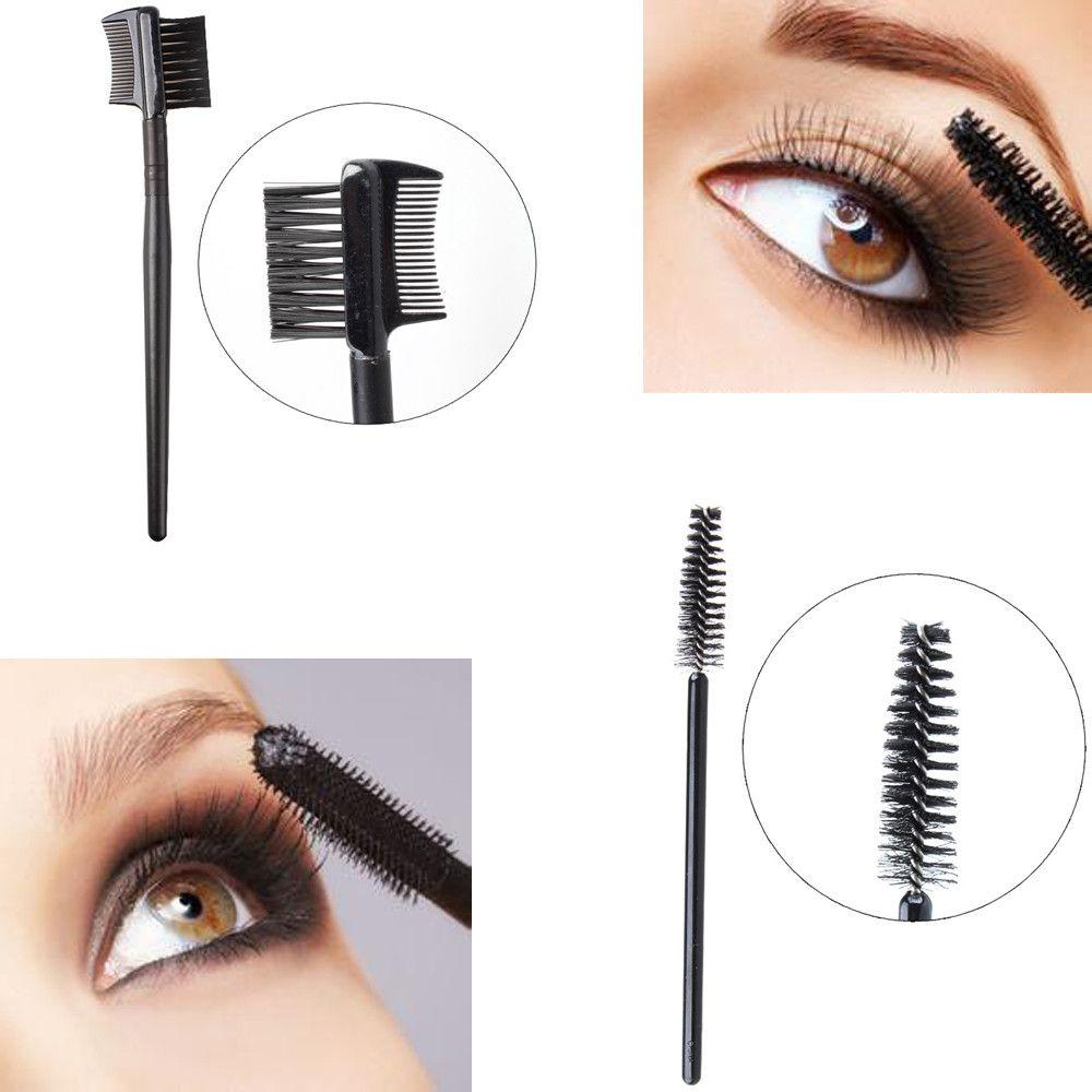 2pcs Single Head Screw Eyelash Brush Double Eyebrow Comb Brush