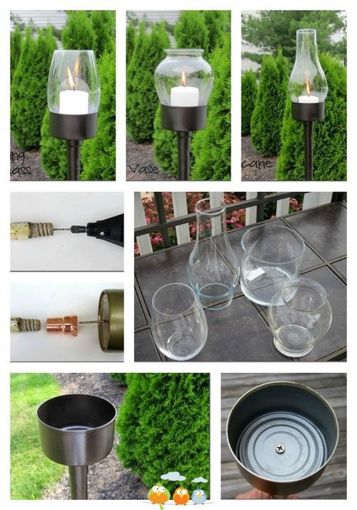 Nice way to add light to a walk way | Green Fingers | Pinterest ...