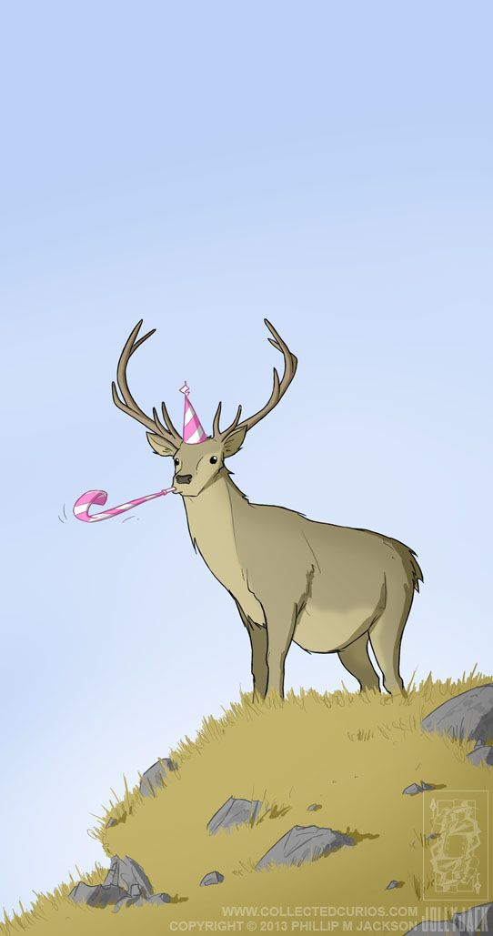 Happy Birthday Deer Meme : happy, birthday, Birthday, Jollyjack, DeviantART, Happy, Illustration,, Hunting,, Images