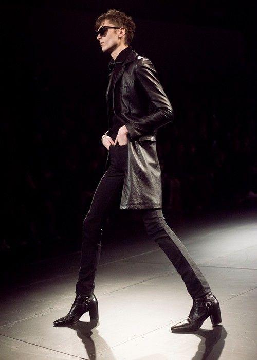 fd0b78cfe19 Saint Laurent AW15 | North America | Men in heels, Mens heeled boots ...