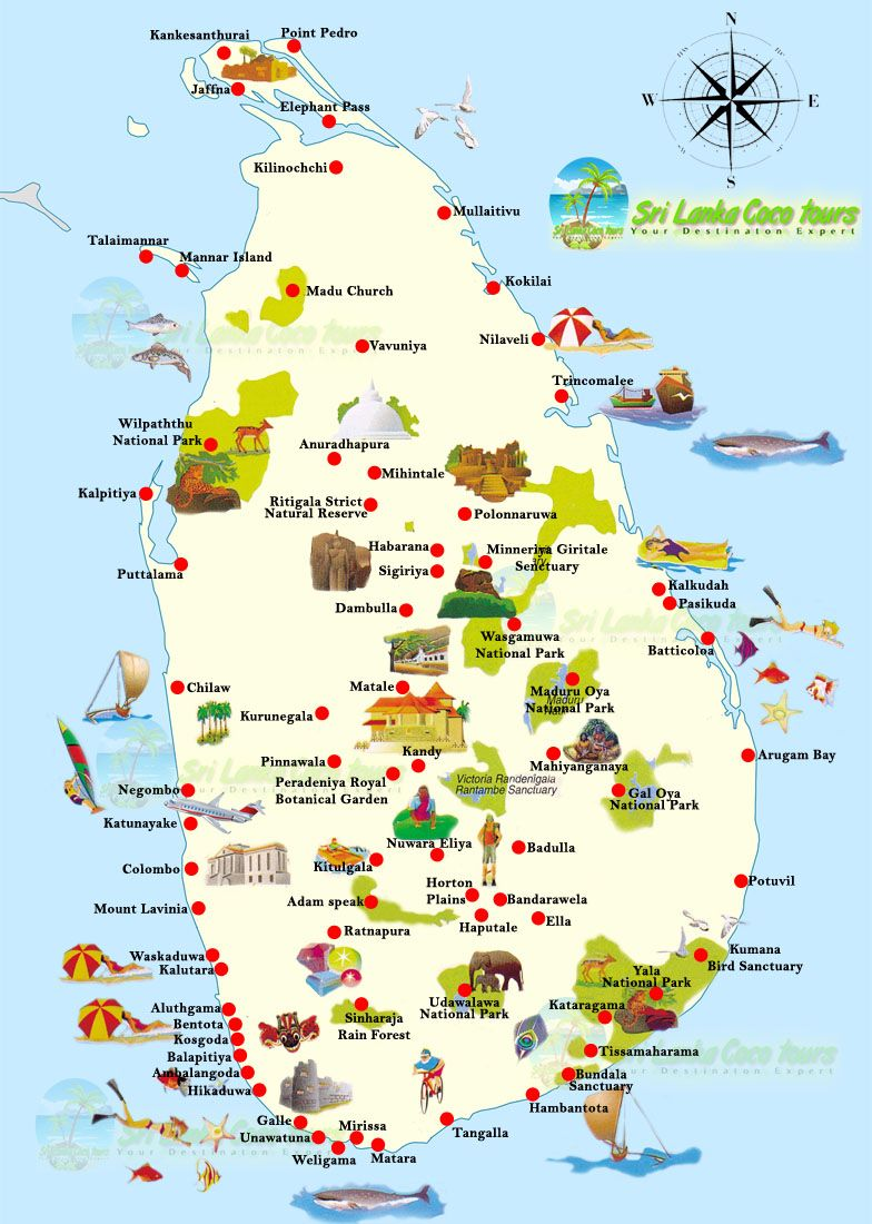 SrilankaTouristmap WHEN WILL I BE RICH Pinterest Sri lanka
