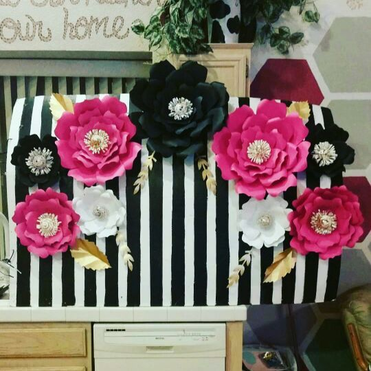 kate spade inspired paper wall flowers for sale in north las vegas  nv in 2019