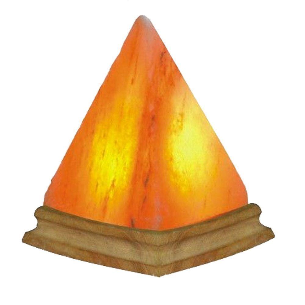 New Natural Solution Himalayan Salt Pyramid Shape Lamp Free Shipping
