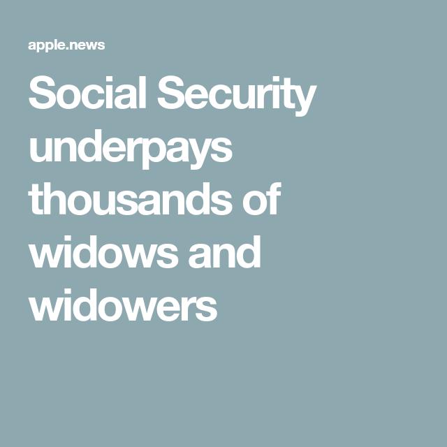 Social Security underpays thousands of widows and widowers — CBS News,  #CBs #News #Security #Social #thousands #underpays #weddingplanningorganizationcheatsheets #widowers #widows