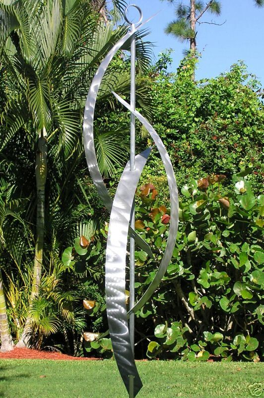 Metal Sculpture Indoor Outdoor Art Abstract Garden Decor Large
