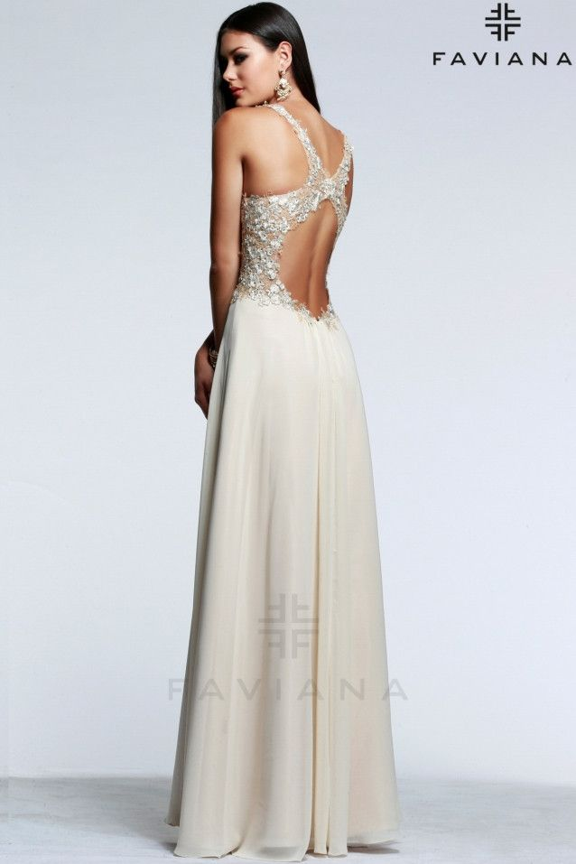 Vestido de novia color crema modelo S7533 by Faviana | Boutique ...