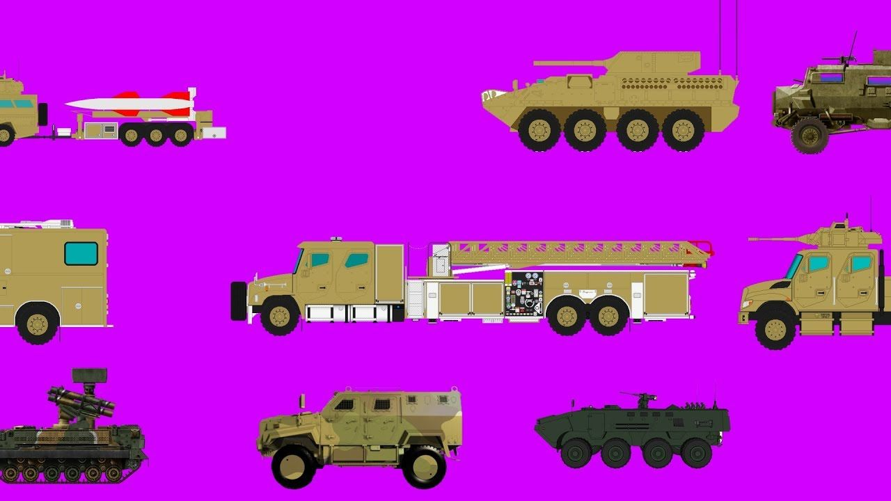 Learning Military Vehicle Names And Sounds Videos For Kids Army