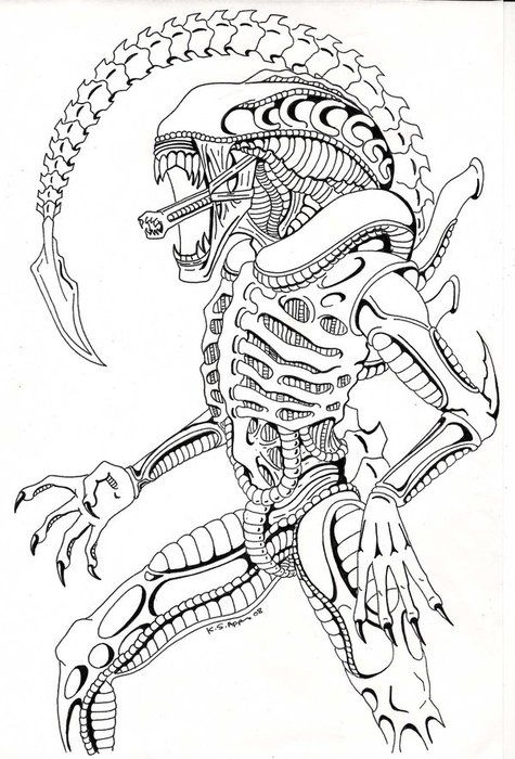 Xenomorph Drawing Alien xenomorph drawing | Animal stuff | Pinterest