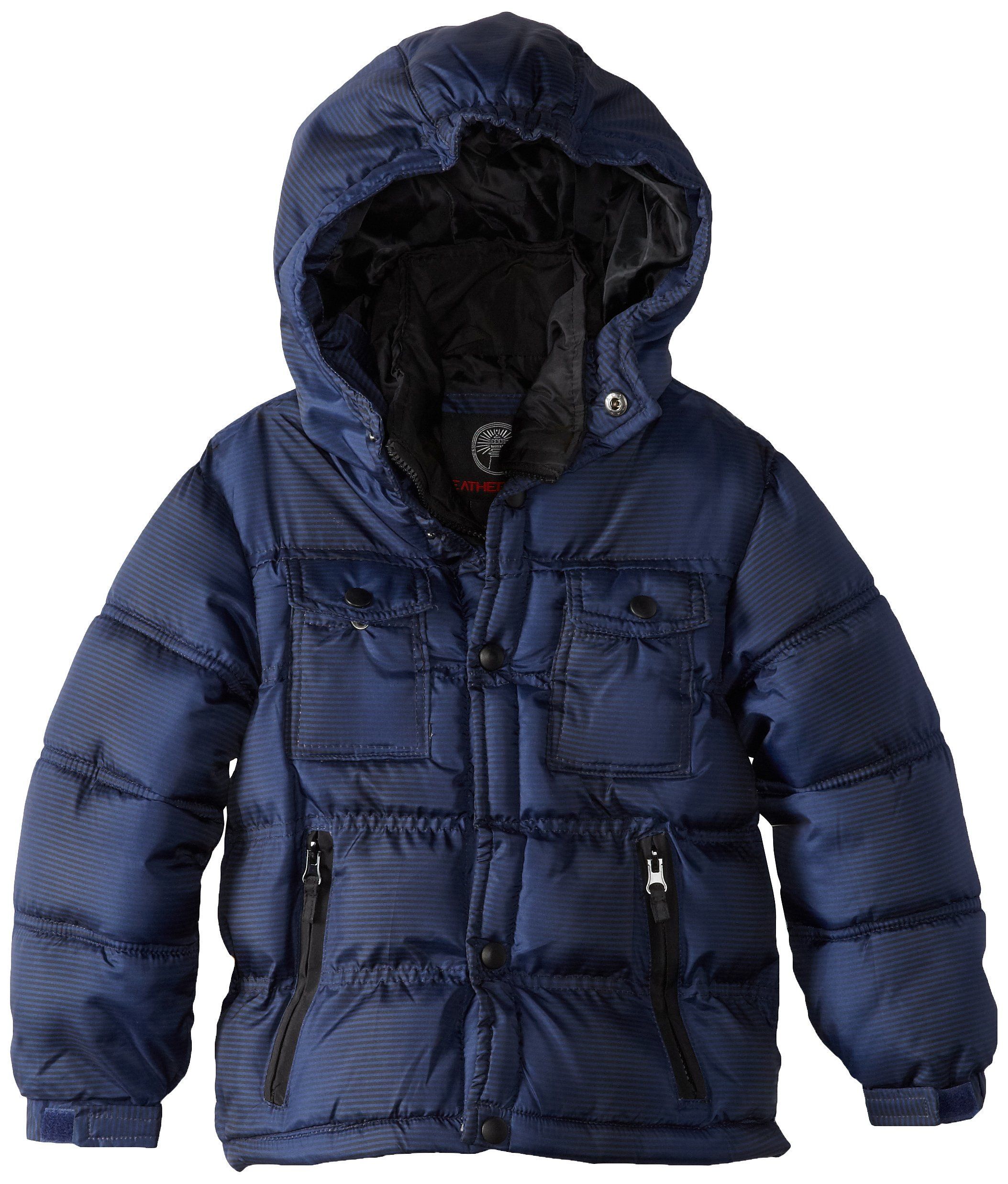 Weatherproof Little Boys Bubble Jacket With Attached Quilted Bib And Ribknit Collar Blue 6x Jackets Little Boys Winter Jackets [ 2474 x 2107 Pixel ]