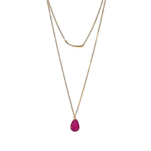 Layered Necklace - Pink
