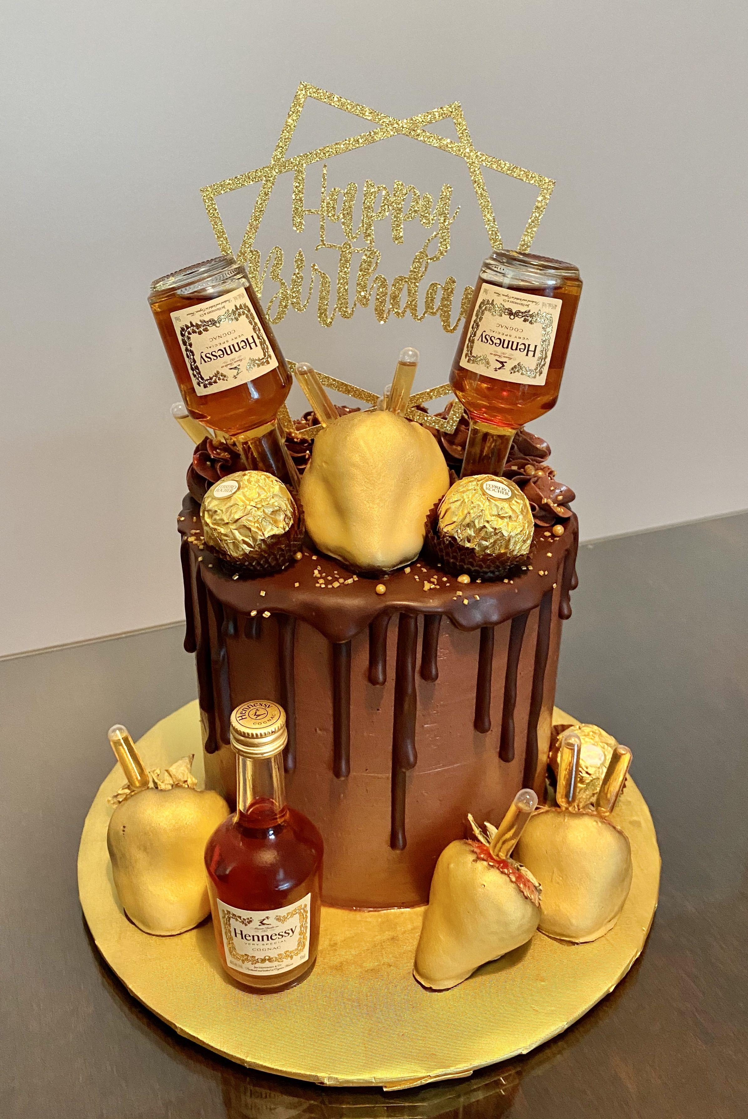 Hennessy cake in 2020 hennessy cake cake desserts