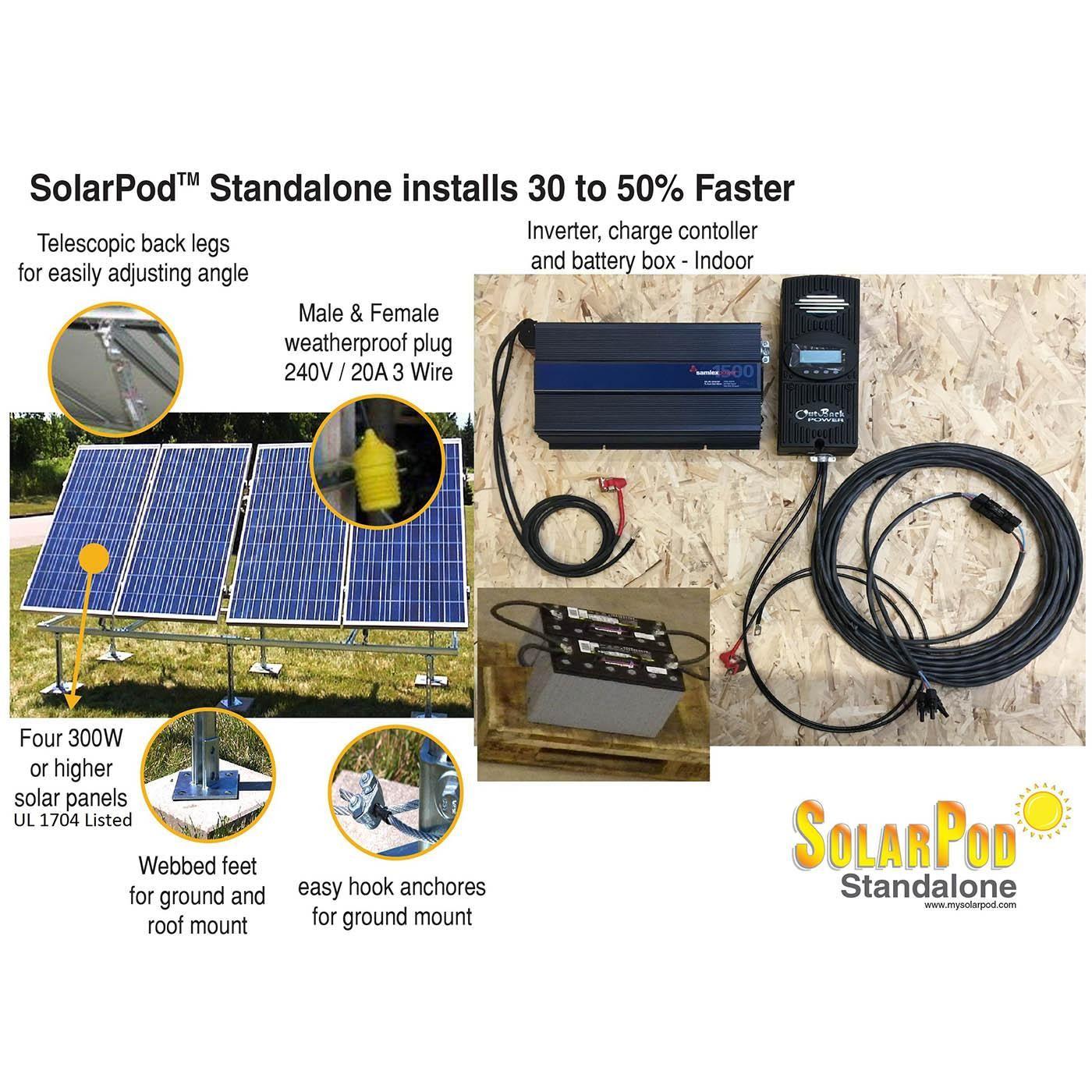 Model 1003 Solarpod Standalone 1 2 Kw Solar Pv System In 2020 Solar Pv Systems Solar Pv System