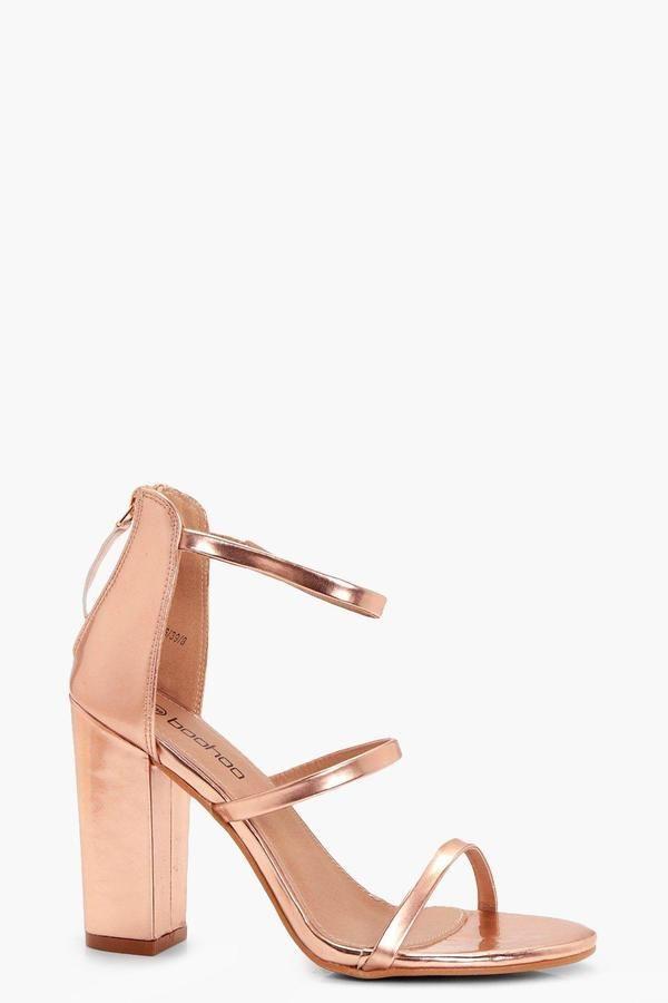 045c2e74491 boohoo Belle 3 Part Block heels