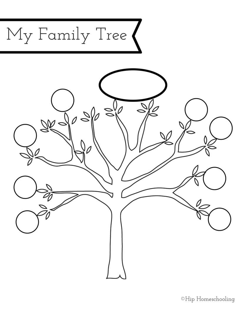 All about me worksheet a printable book for elementary for Preschool family tree template
