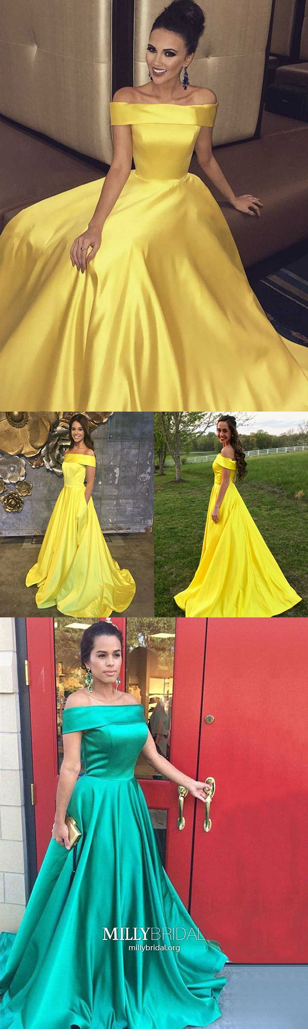 Long prom dresses for teenagersyellow formal evening dresses